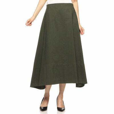 MADISONBLUE(マディソンブルー)バックサテンフレアスカート