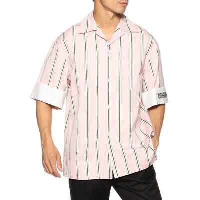 CALVIN KLEIN 205 W39 NYC(カルバンクライン205 ダブル39 エヌワイシー)ストライプ柄オープンカラーシャツ