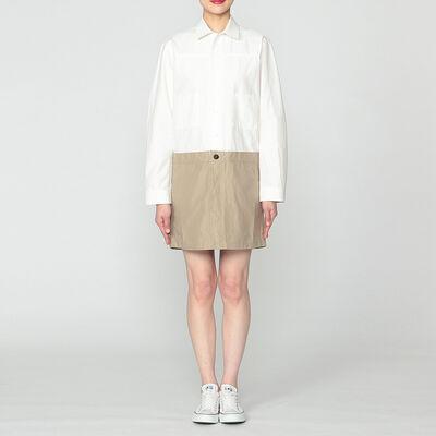 VIS A VIS(ヴィザヴィ)バイカラーシャツドレス