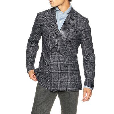 TAGLIATORE(タリアトーレ)グレンチェック柄ダブルブレステッドジャケット
