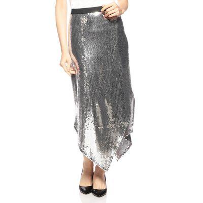 YOONGINAH(ユンイナ)スパンコールアシンメトリースカート