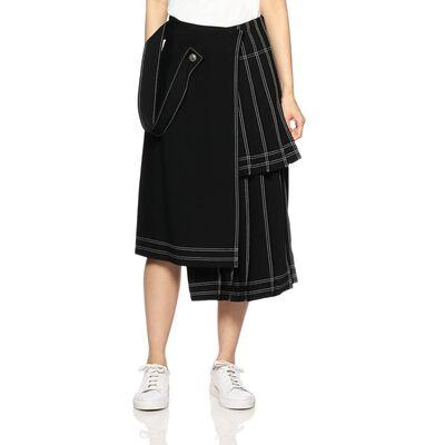 OFF-WHITE c/o VIRGIL ABLOH(オフ-ホワイト c/o ヴァージル アブロー)パルチパネルプリーツスカート