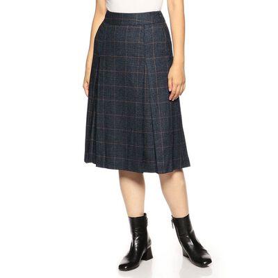 INCOTEX(インコテックス)チェック柄ボックスプリーツスカート