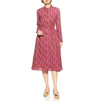 BARNEYS NEW YORK(バーニーズ ニューヨーク)ウォッシャブルプリントシャツドレス