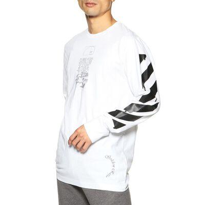OFF-WHITE c/o VIRGIL ABLOH(オフ-ホワイト c/o ヴァージル アブロー)プリントロングスリーブTシャツ