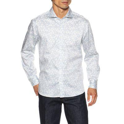 BARNEYS NEW YORK(バーニーズ ニューヨーク)フラワープリントストレッチシャツ