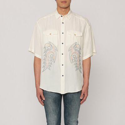 TOGA VIRILIS(トーガ ビリリース)レーヨンウエスタンシャツ