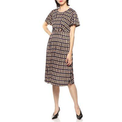 BARNEYS NEW YORK(バーニーズ ニューヨーク)ウォッシャブル幾何学柄ドレス