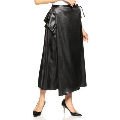 ELIN(エリン)サテンラップスカート
