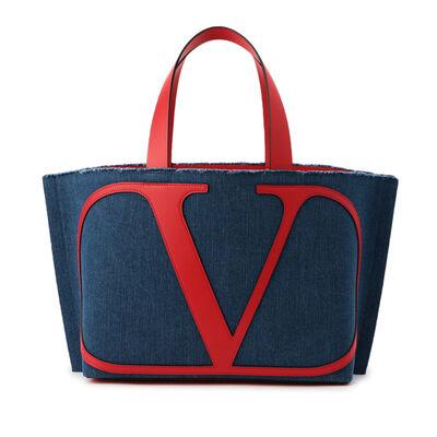VALENTINO GARAVANI(ヴァレンティノ ガラヴァーニ)ロゴ入りデニムトートバッグ