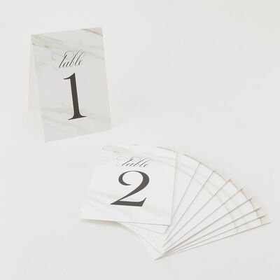 """VERA WANG PAPERS(ヴェラ ウォン ペーパーズ)テーブルカード """"1-10"""""""