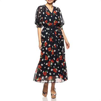 MUVEIL(ミュベール)シフォンロングドレス
