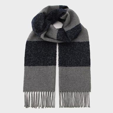 Wool Cashmere Silk Scarf: Grey
