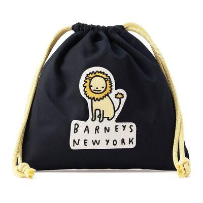 BARNEYS NEW YORK(バーニーズ ニューヨーク)ライオンワッペン付き巾着(S)