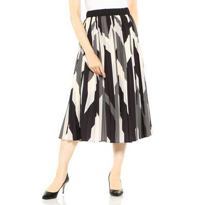 BARNEYS NEW YORK(バーニーズ ニューヨーク)ウォッシャブルジオメトリックプリントスカート