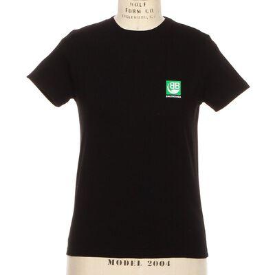 BALENCIAGA(バレンシアガ)グリーンロゴTシャツ