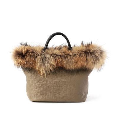 VIOLAD'ORO(ヴィオラドーロ)ラクーンファーハンドバッグ