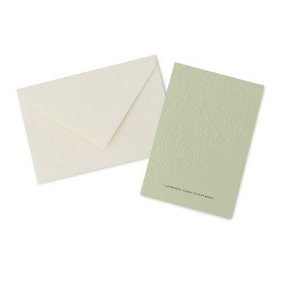 VERA WANG PAPERS(ヴェラ ウォン ペーパーズ)ライラックエンボスカードセット