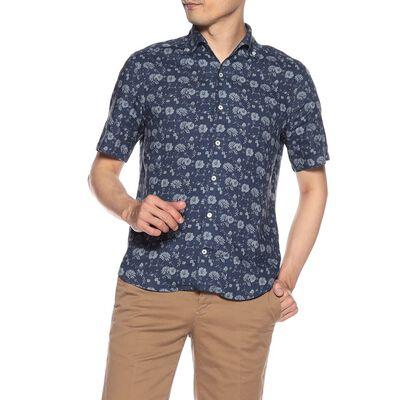 BARNEYS NEW YORK(バーニーズ ニューヨーク)フラワープリント半袖リネンシャツ