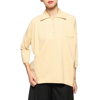 ELIN(エリン)ロングニットポロシャツ