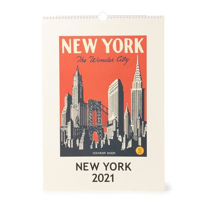 """CAVALLINI(カヴァリーニ)2021年壁掛けカレンダー """"NEW YORK"""""""