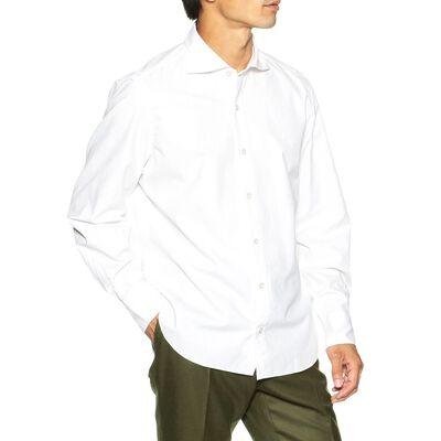 FINAMORE(フィナモレ)コットンツイルシャツ
