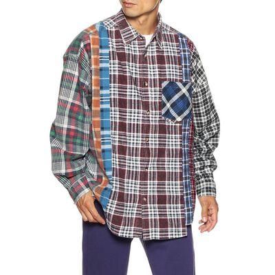 NEEDLES(ニードルス)チェック柄パッチワークフランネルシャツ