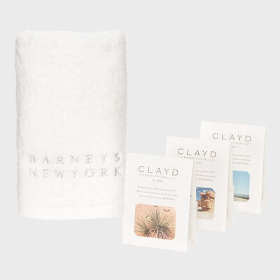 CLAYD(クレイド)【ブライダルギフト】入浴剤&フェイスタオルセット/ホワイト