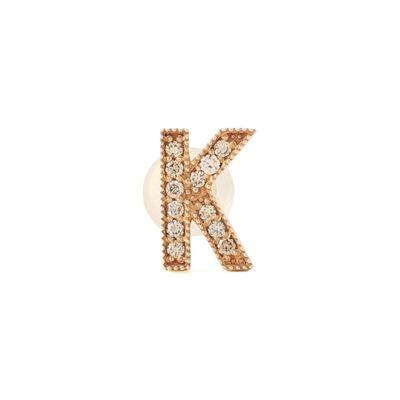 "SAFFRAAN(サフラン)片耳ピアス ""K"""