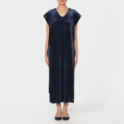 BARNEYS NEW YORK(バーニーズ ニューヨーク)サイドスリットヴェルヴェットジャージードレス