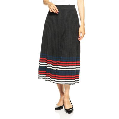 BARNEYS NEW YORK(バーニーズ ニューヨーク)マルチボーダーリブニットフレアスカート