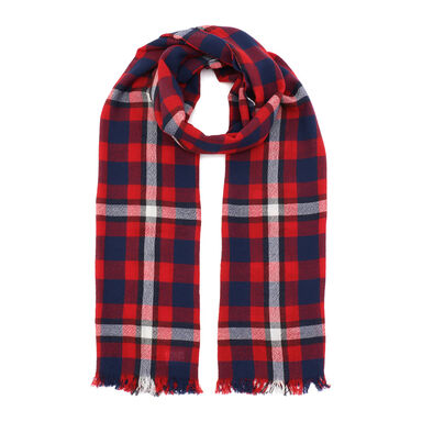 Wool Scarf: Red