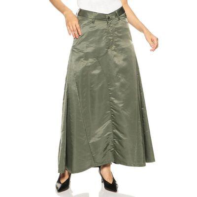 MADISONBLUE(マディソンブルー)ナイロンロングスカート