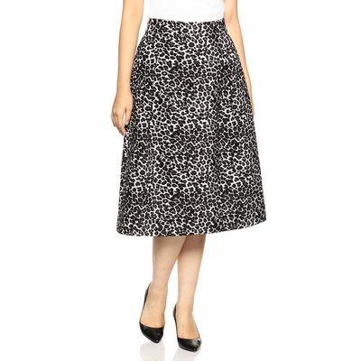 BARNEYS NEW YORK(バーニーズ ニューヨーク)レオパード柄ジャカードスカート