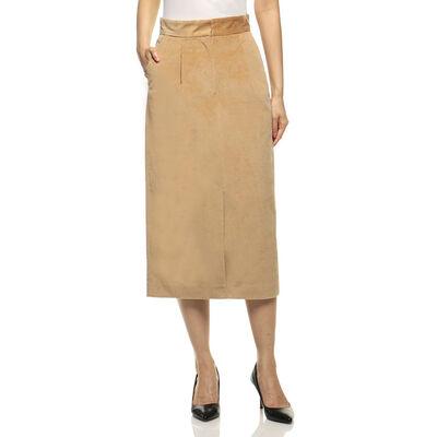 INCOTEX(インコテックス)コーデュロイストレッチタイトスカート