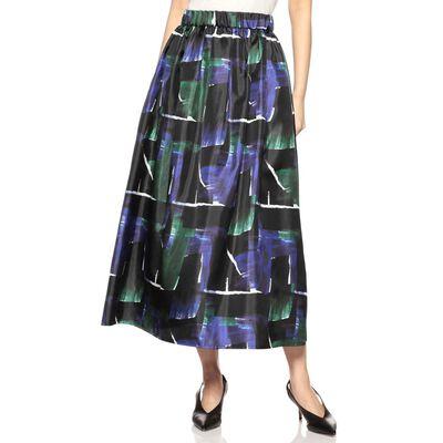 BARNEYS NEW YORK(バーニーズ ニューヨーク)ウォッシャブルプリントフレアボリュームスカート