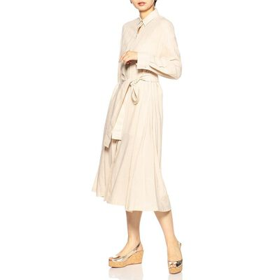 VINCE(ヴィンス)ウエストリボンシャツドレス