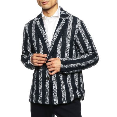 BARNEYS NEW YORK(バーニーズ ニューヨーク)ストライプ柄ニットジャケット