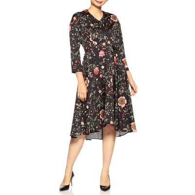 BARNEYS NEW YORK(バーニーズ ニューヨーク)ウォッシャブルボタニカル柄ドレス