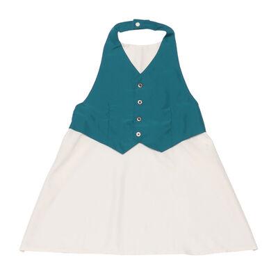 "MARLMARL(マールマール)お食事エプロン ""garcon"" (cobalt blue for kids)"