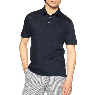 ZANONE(ザノーネ)マイクロボーダーコットンリネンポロシャツ