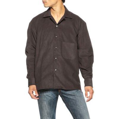 BARBA(バルバ)コーデュロイオープンカラーシャツ