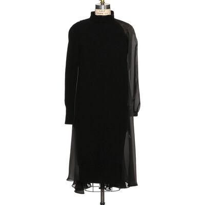 SACAI(サカイ)ハイブリッドロングスリーブドレス