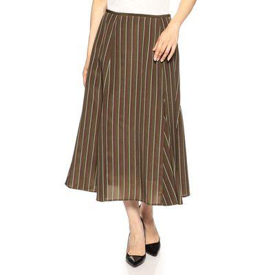 BARNEYS NEW YORK(バーニーズ ニューヨーク)ウォッシャブルマルチストライプ柄ミディスカート