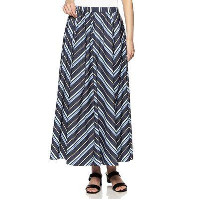 BARNEYS NEW YORK(バーニーズ ニューヨーク)ウォッシャブルマルチストライプ柄ロングスカート