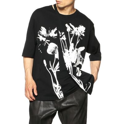 TAAKK(ターク)レイヤードデザインプリントTシャツ