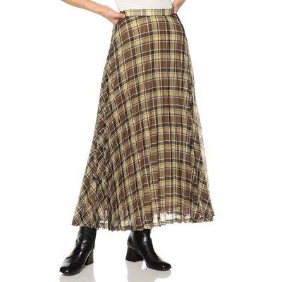 AURALEE(オーラリー)チェックプリーツロングスカート