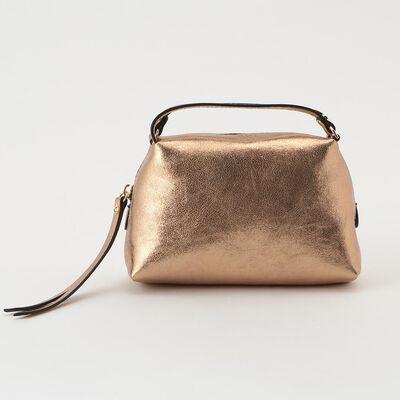 GIANNI CHIARINI(ジャンニ キアリーニ)メタリックレザーミニボストンバッグ