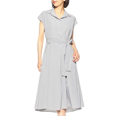 BARNEYS NEW YORK(バーニーズ ニューヨーク)ストライプ柄シャツドレス