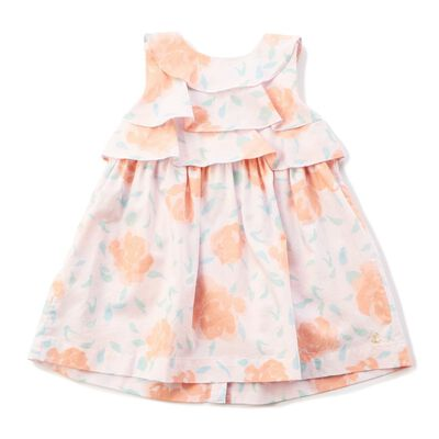 PETIT BATEAU(プチバトー)ローズプリントドレス